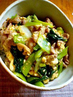 070705豚肉と青梗菜の中華炒め
