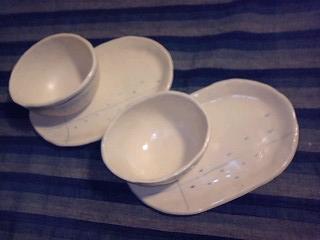 白い茶碗&お皿セット