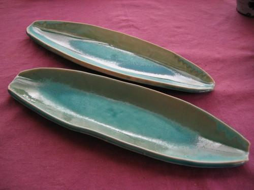 緑のオードブル皿